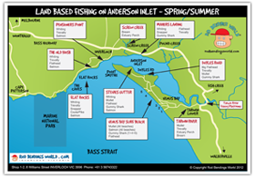 Anderson Inlet - Land Based Fishing Map - Spring Summer