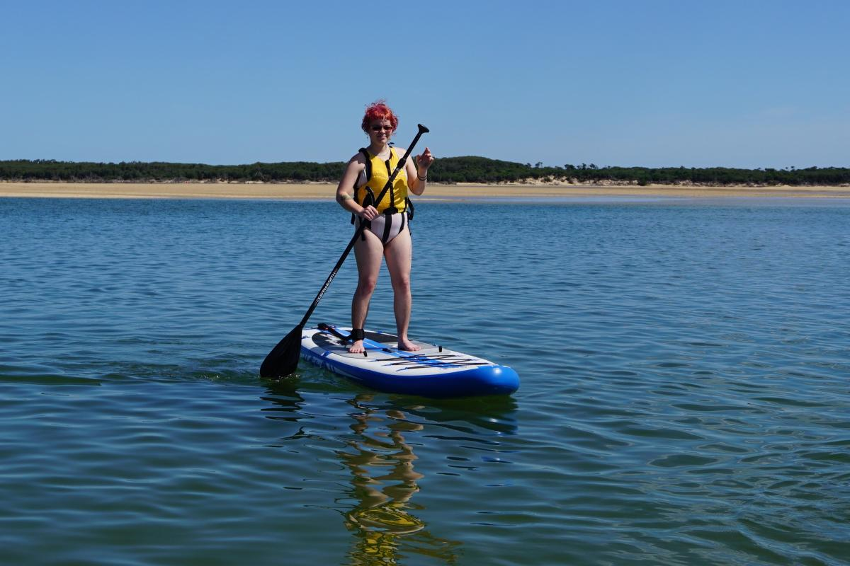 Z-Ray A2 10 6 Inflatable SUP Front On Water Inverloch